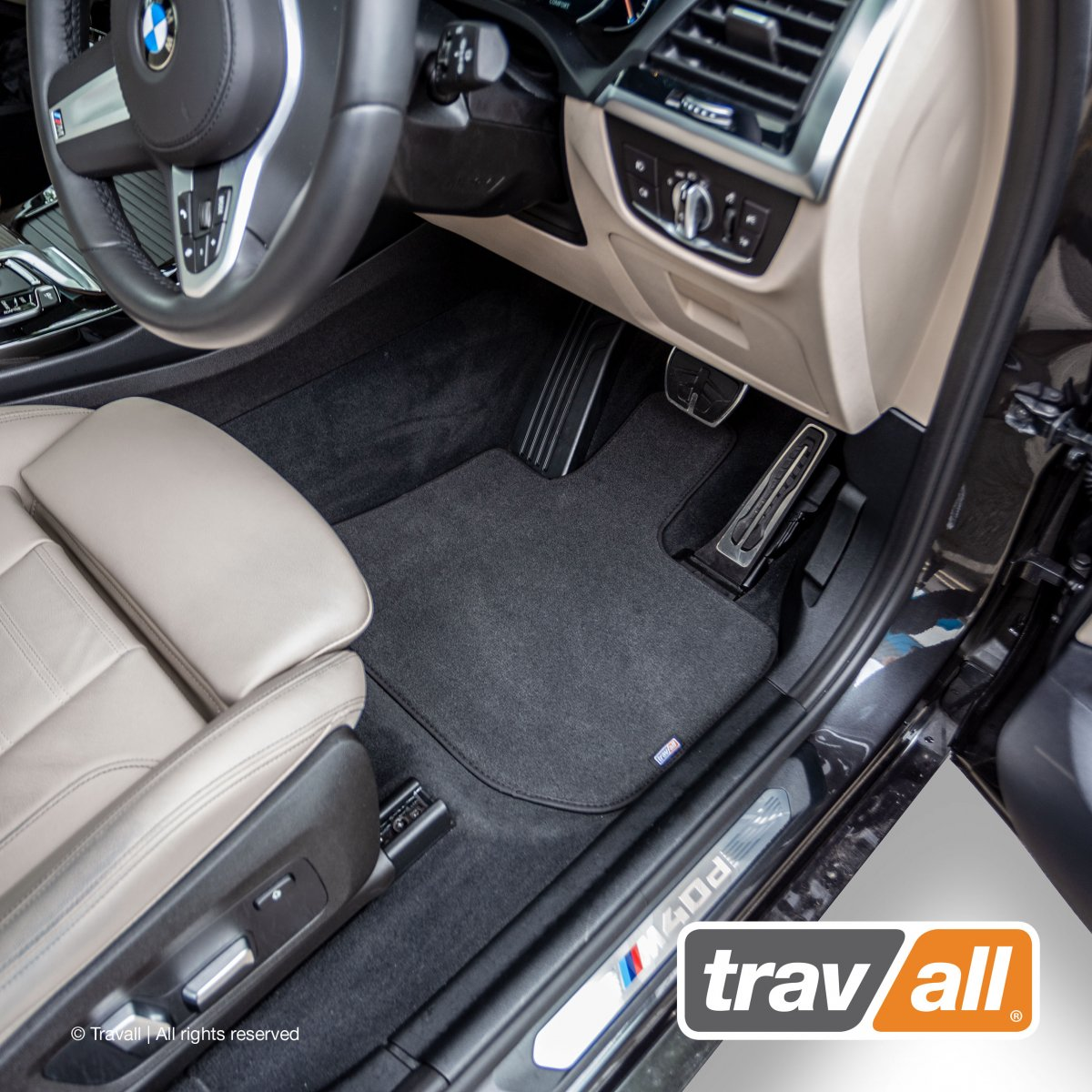 Travall® MATS [RHD] for BMW 3 Series Saloon / Estate (2012 - 2019)